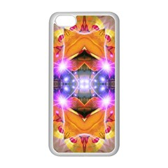 Abstract Flower Apple Iphone 5c Seamless Case (white) by icarusismartdesigns
