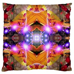 Abstract Flower Large Flano Cushion Case (two Sides) by icarusismartdesigns