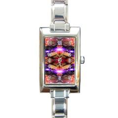 Third Eye Rectangular Italian Charm Watch by icarusismartdesigns