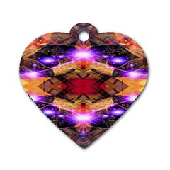 Third Eye Dog Tag Heart (one Sided)  by icarusismartdesigns