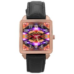 Third Eye Rose Gold Leather Watch  by icarusismartdesigns