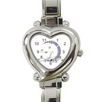 Moon Heart Italian Charm Watch