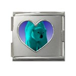 Polar Bear Mega Link Heart Italian Charm (18mm)