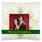 christmas - Large Flano Cushion Case (One Side)