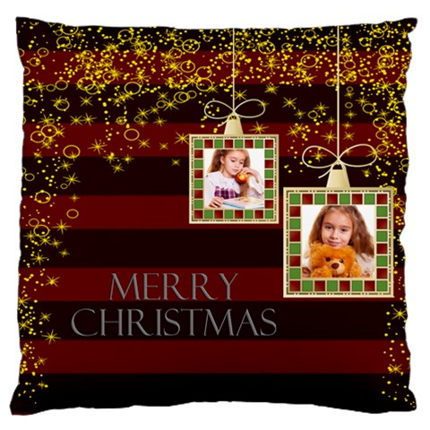 Christmas By Joely   Large Flano Cushion Case (one Side)   Fzzhsqdztc8w   Www Artscow Com Front