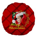 xmas - Large 18  Premium Flano Round Cushion