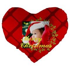 Xmas By Xmas   Large 19  Premium Flano Heart Shape Cushion   Squy1vb92gg1   Www Artscow Com Back