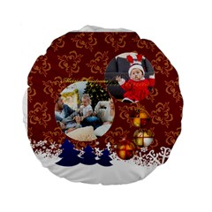 Xmas By Xmas   Standard 15  Premium Flano Round Cushion    E3165hd2lkrk   Www Artscow Com Front
