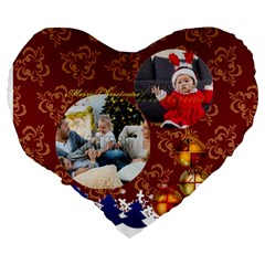 Xmas By Xmas   Large 19  Premium Flano Heart Shape Cushion   Cnuxu4y461d0   Www Artscow Com Back