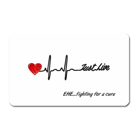 Just Live By Julia   Magnet (rectangular)   G25fdrbr75zy   Www Artscow Com Front