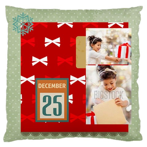 Xmas By Xmas4   Large Flano Cushion Case (one Side)   Mycwr3zivrlq   Www Artscow Com Front