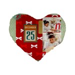 xmas - Standard 16  Premium Flano Heart Shape Cushion