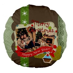 Xmas By Xmas   Large 18  Premium Flano Round Cushion    Jfnq1uhd78ky   Www Artscow Com Front