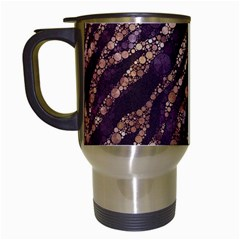 Lavender Gold Zebra  Travel Mug (white) by OCDesignss