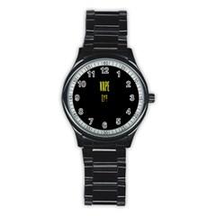 Vape Life Yellow  Sport Metal Watch (black) by OCDesignss