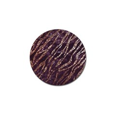 Lavender Gold Zebra  Golf Ball Marker by OCDesignss