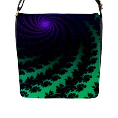 Sssssssfractal Flap Closure Messenger Bag (large) by urockshop