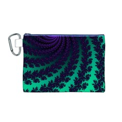 Sssssssfractal Canvas Cosmetic Bag (Medium) by urockshop