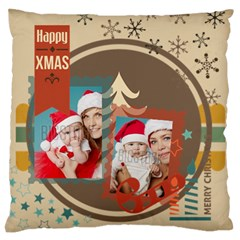 Xmas By Xmas   Large Flano Cushion Case (two Sides)   3yd7x1xjf69o   Www Artscow Com Front