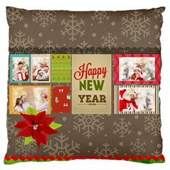 Xmas By Xmas   Large Flano Cushion Case (two Sides)   Wut1h04fp0q9   Www Artscow Com Back
