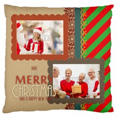 Xmas By Xmas   Large Flano Cushion Case (two Sides)   Iscboag0xszw   Www Artscow Com Back