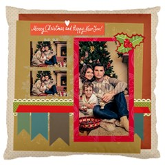 Xmas By Xmas   Large Flano Cushion Case (two Sides)   9jvx27m0efd4   Www Artscow Com Back