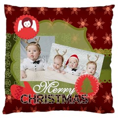 Xmas By Xmas   Large Flano Cushion Case (two Sides)   Ze5i9ql4rk6i   Www Artscow Com Front