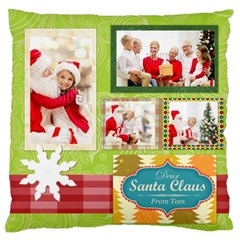 Xmas By Xmas   Large Flano Cushion Case (two Sides)   Avpa14vweolc   Www Artscow Com Front