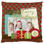 xmas - Large Flano Cushion Case (Two Sides)