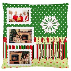 Xmas By Xmas   Large Flano Cushion Case (two Sides)   Yes5b8hjwine   Www Artscow Com Front