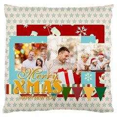 Xmas By Xmas   Large Flano Cushion Case (two Sides)   Ytg8zzq41cfg   Www Artscow Com Front