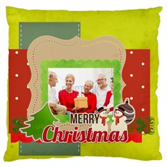 Xmas By Xmas   Large Flano Cushion Case (two Sides)   0z6l8r4oar8x   Www Artscow Com Front