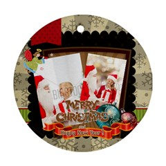 Xmas By Xmas   Round Ornament (two Sides)   9ilb88bd24mf   Www Artscow Com Back