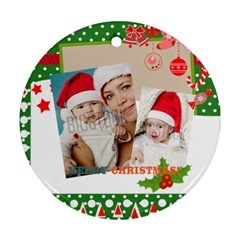 Xmas By Xmas   Round Ornament (two Sides)   Z4a91qt9phas   Www Artscow Com Back
