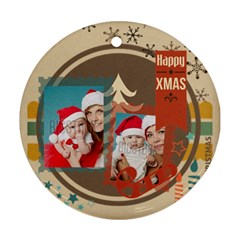 Xmas By Xmas   Round Ornament (two Sides)   X44j4fnqvgpr   Www Artscow Com Back