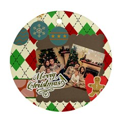 Xmas By Xmas   Round Ornament (two Sides)   Wm16yhepiblr   Www Artscow Com Back