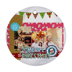 Xmas By Xmas   Round Ornament (two Sides)   Vjylt79mo01p   Www Artscow Com Back