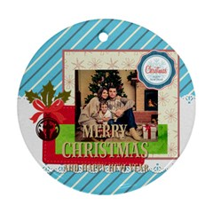 Xmas By Xmas   Round Ornament (two Sides)   Soxi0ctcg9e4   Www Artscow Com Back