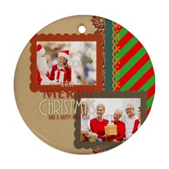 Xmas By Xmas   Round Ornament (two Sides)   10h4464weml7   Www Artscow Com Front
