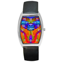Lava Creature Tonneau Leather Watch by icarusismartdesigns