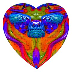 Lava Creature Jigsaw Puzzle (heart) by icarusismartdesigns
