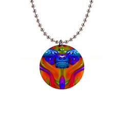 Lava Creature Button Necklace by icarusismartdesigns