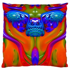 Lava Creature Large Cushion Case (two Sided)  by icarusismartdesigns