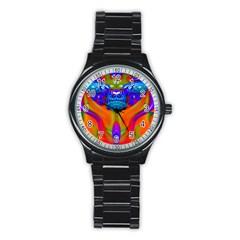 Lava Creature Sport Metal Watch (black) by icarusismartdesigns