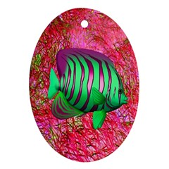 Fish Oval Ornament by icarusismartdesigns