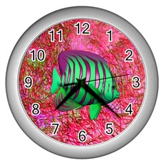 Fish Wall Clock (silver) by icarusismartdesigns