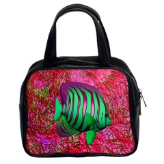 Fish Classic Handbag (two Sides) by icarusismartdesigns