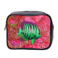 Fish Mini Travel Toiletry Bag (two Sides) by icarusismartdesigns