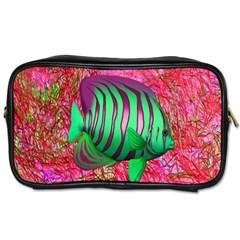 Fish Travel Toiletry Bag (one Side) by icarusismartdesigns