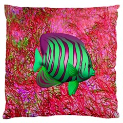 Fish Large Cushion Case (two Sided)  by icarusismartdesigns